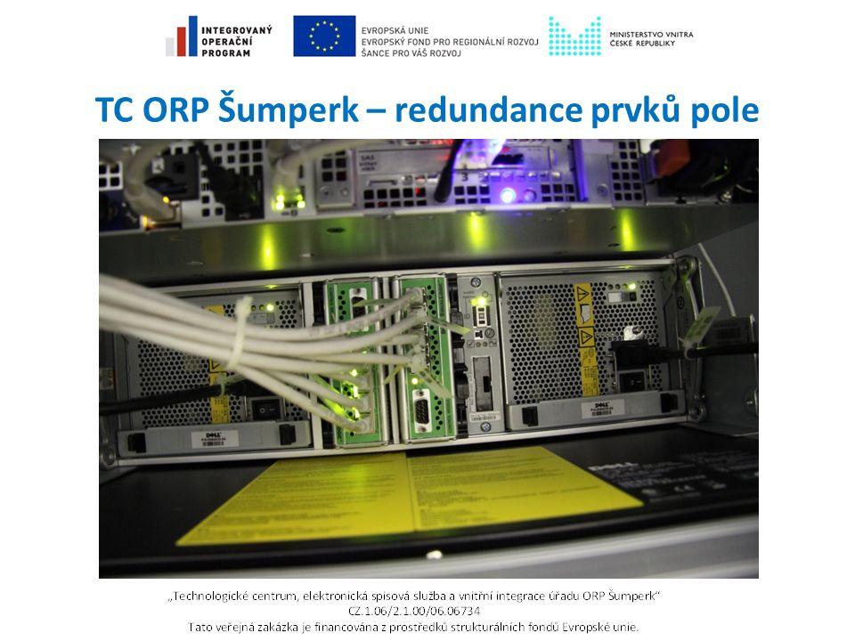 TC ORP Šumperk – redundance prvků pole