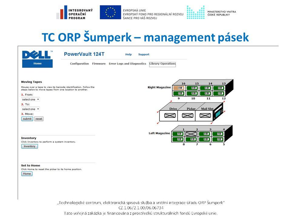 TC ORP Šumperk – management pásek
