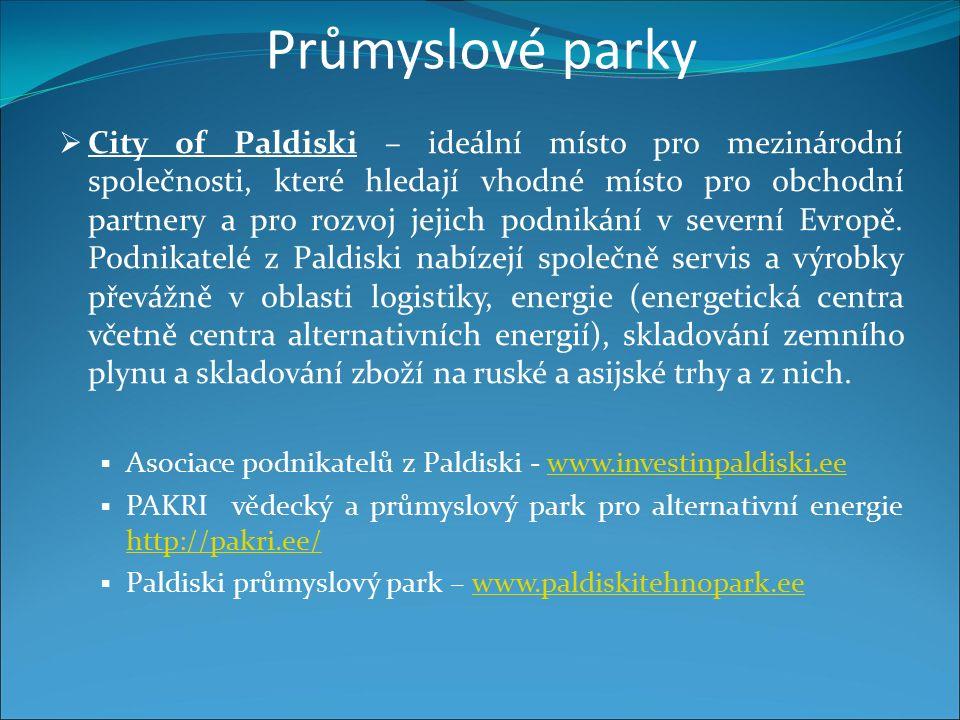 Průmyslové parky  City of Paldiski – ideální místo pro mezinárodní společnosti, které hledají vhodné místo pro obchodní partnery a pro rozvoj jejich podnikání v severní Evropě.