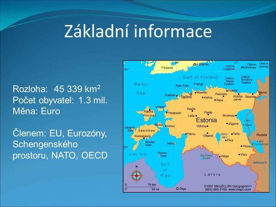 Základní informace Rozloha: 45 339 km 2 Počet obyvatel: 1.3 mil.