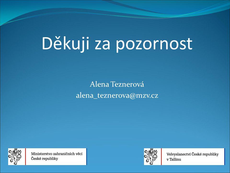 Děkuji za pozornost Alena Teznerová alena_teznerova@mzv.cz