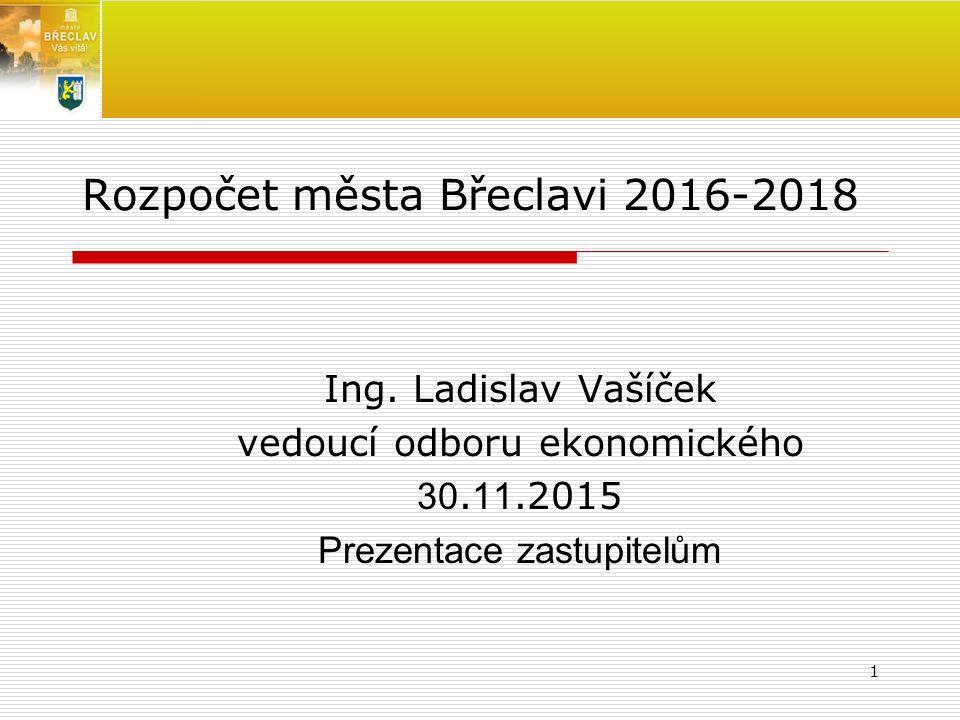 Rozpočet města Břeclavi 2016-2018 Ing. Ladislav Vašíček vedoucí odboru ekonomického 30.