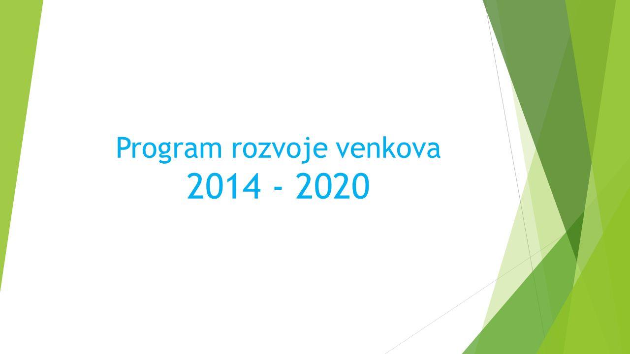 Program rozvoje venkova 2014 - 2020