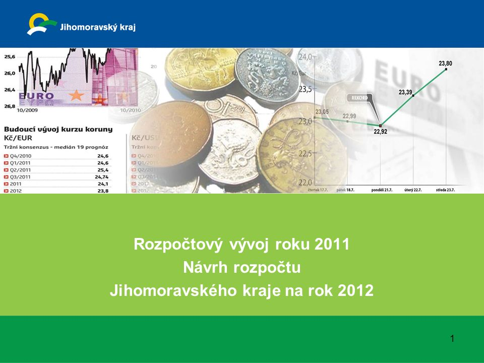 Rozpočtový vývoj roku 2011 Návrh rozpočtu Jihomoravského kraje na rok 2012 1