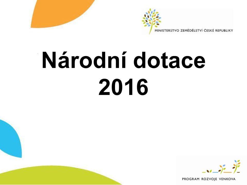 Národní dotace 2016