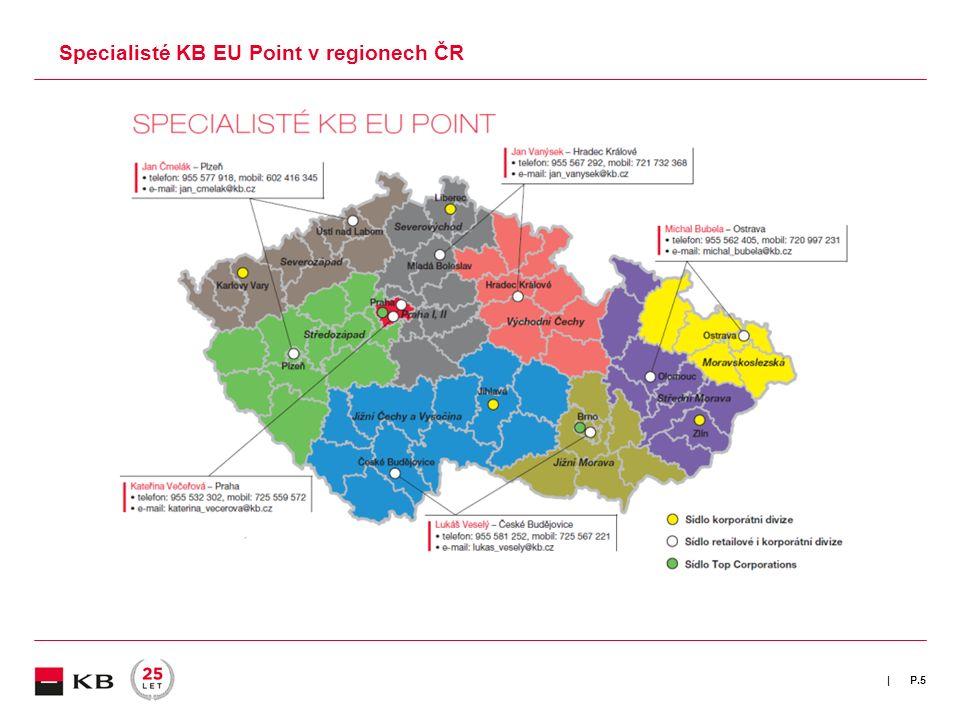 | Specialisté KB EU Point v regionech ČR P.5