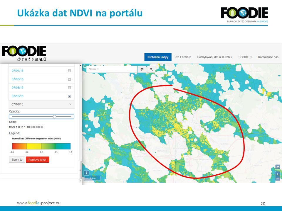 20 www.foodie-project.eu Ukázka dat NDVI na portálu
