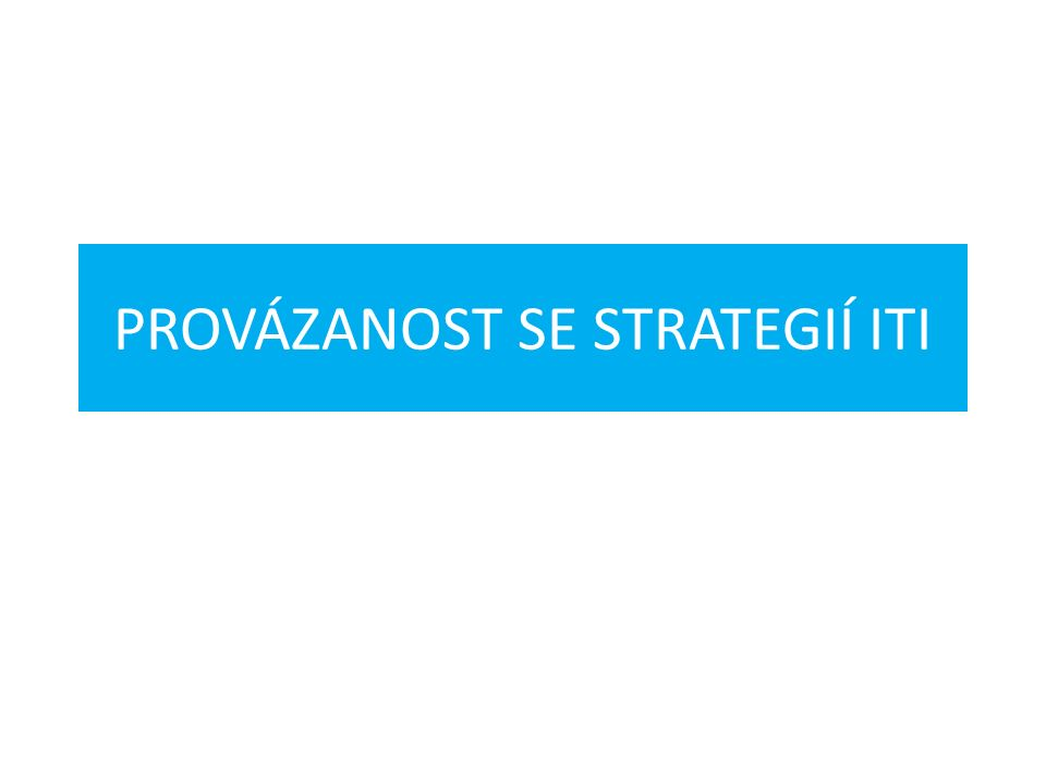 PROVÁZANOST SE STRATEGIÍ ITI