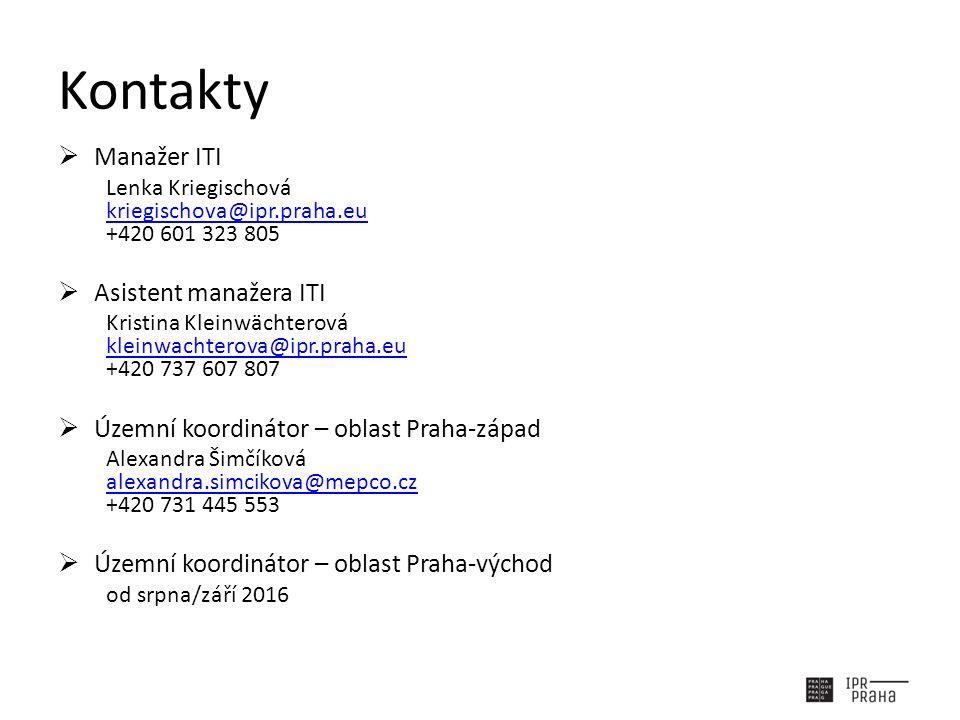 Kontakty  Manažer ITI Lenka Kriegischová kriegischova@ipr.praha.eu +420 601 323 805 kriegischova@ipr.praha.eu  Asistent manažera ITI Kristina Kleinw