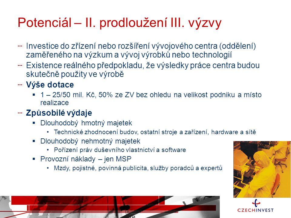 Potenciál – II. prodloužení III.