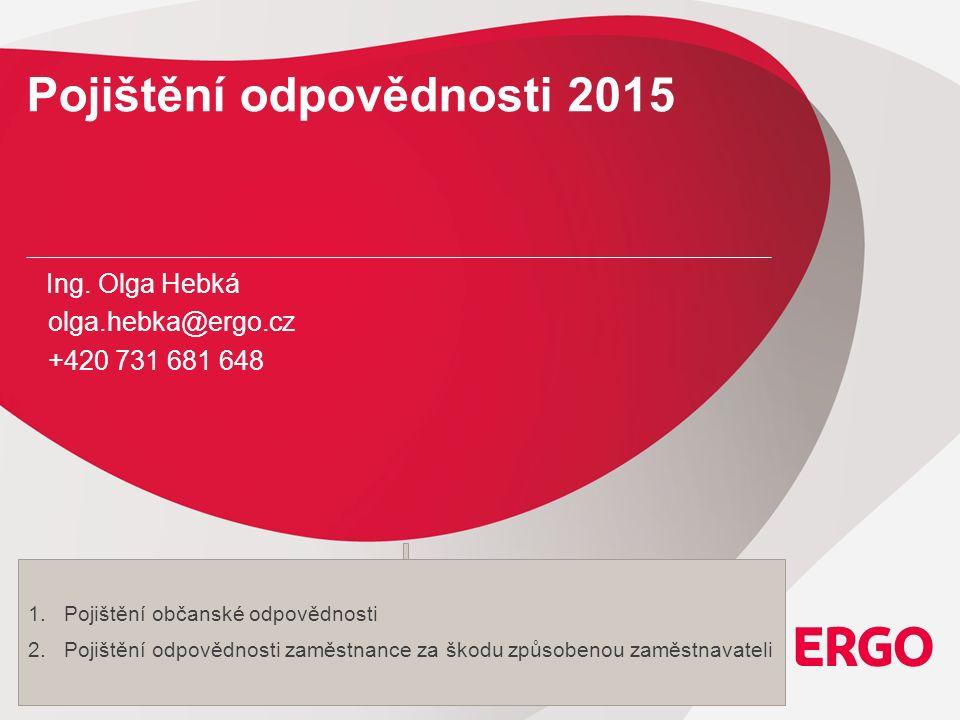 12 Pojištění odpovědnosti 2015 Hromadné pojištění odpovědnosti zaměstnance