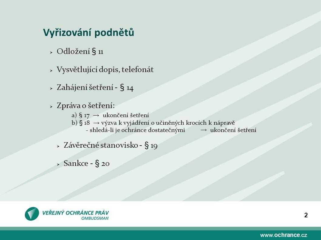 www.ochrance.cz 13 Sp.zn.