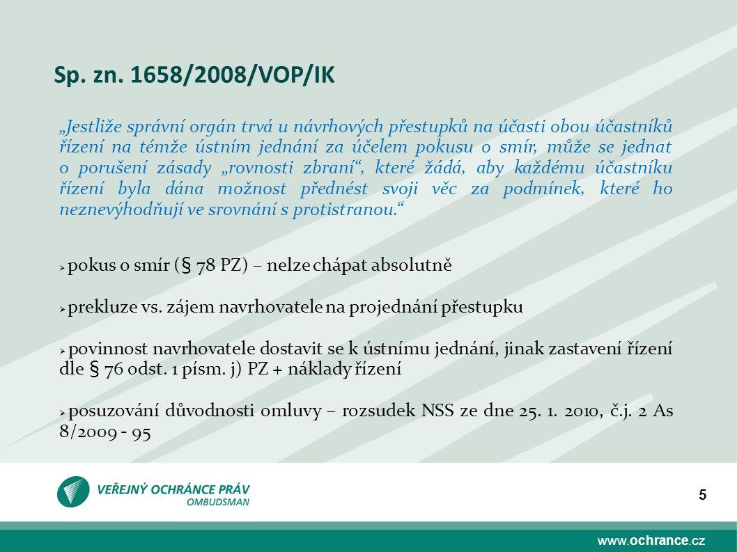 www.ochrance.cz 16 Vložení písemnosti do schránky dle § 23 odst.
