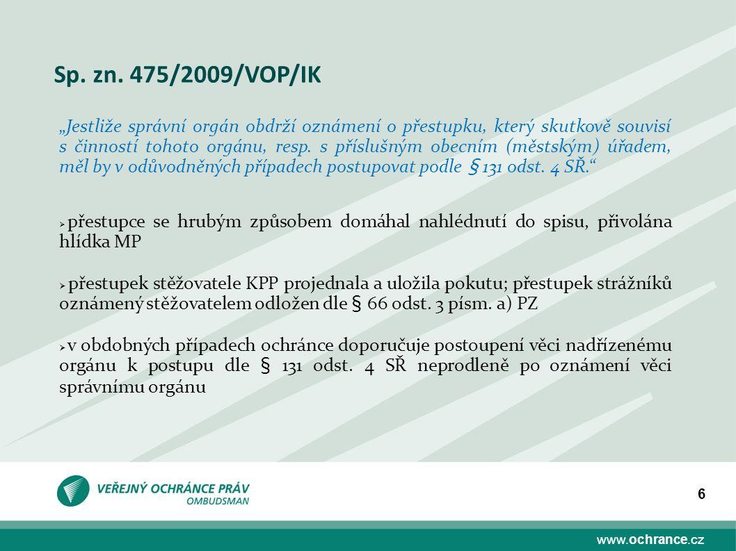 www.ochrance.cz 17 Děkuji Vám za pozornost. E-mail: kousal@ochrance.cz Tel. 542 542 458