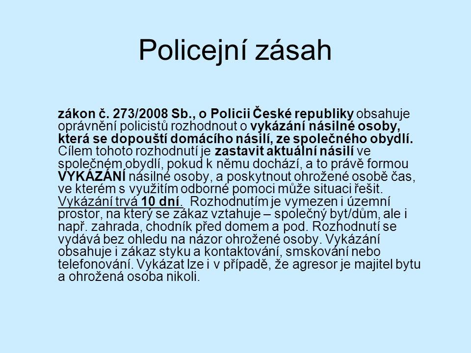 Policejní zásah zákon č.