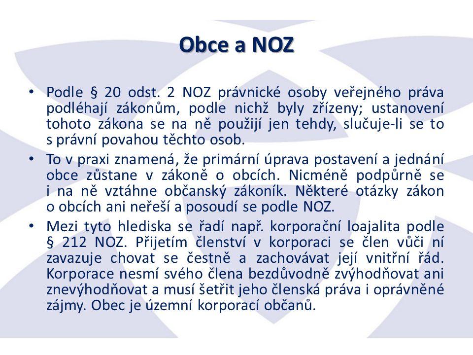 Obce a NOZ Podle § 20 odst.