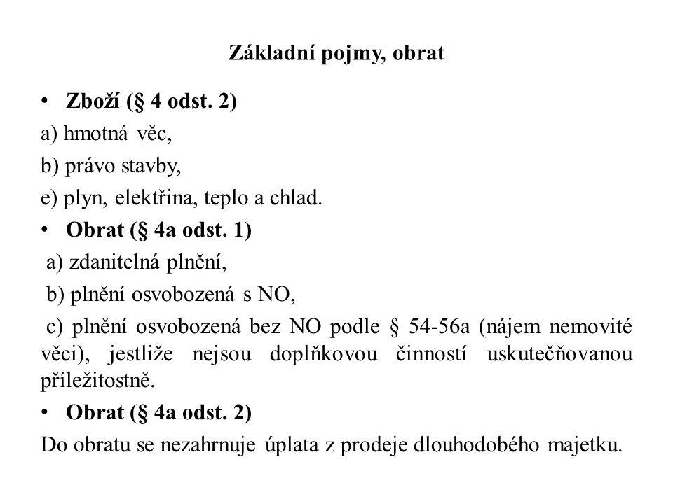 Základní pojmy, obrat Zboží (§ 4 odst.