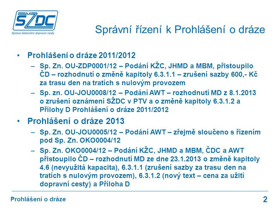 Prohlášení o dráze 2011/2012 –Sp. Zn.
