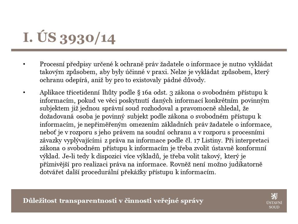 Soudní přezkum a transparentnost Nález sp.zn. Pl.