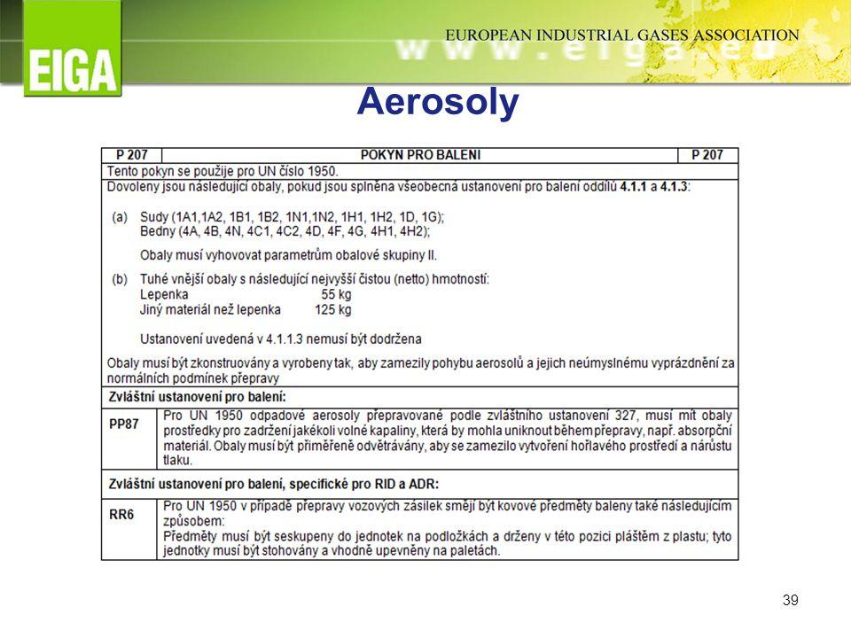 39 Aerosoly