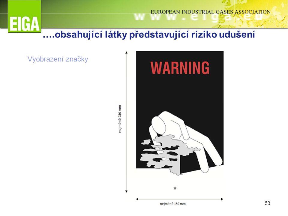 53 ….obsahující látky představující riziko udušení Vyobrazení značky