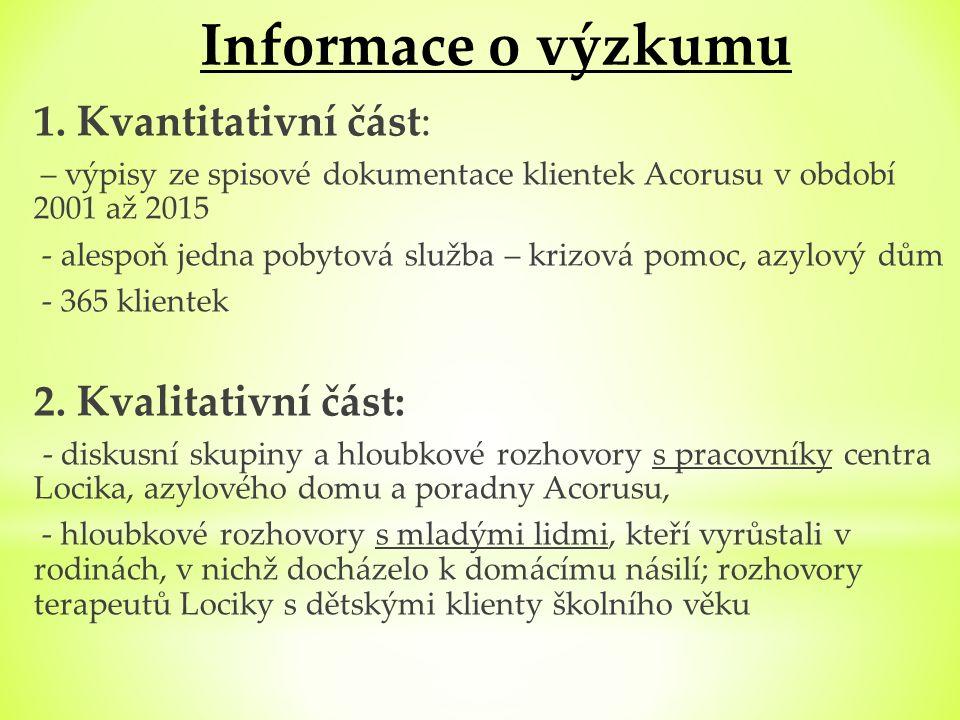 Informace o výzkumu 1.