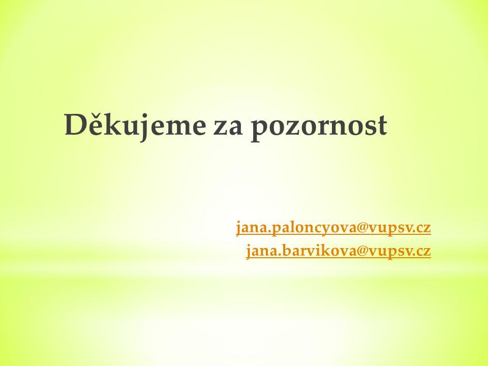 Děkujeme za pozornost jana.paloncyova@vupsv.cz jana.barvikova@vupsv.cz