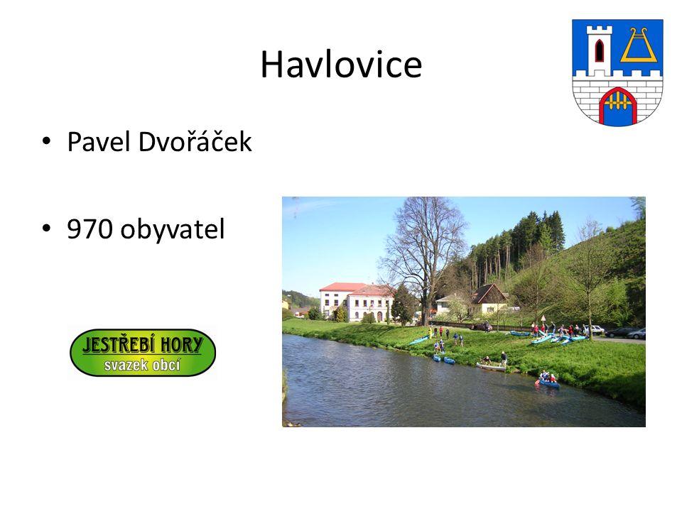 Havlovice Pavel Dvořáček 970 obyvatel