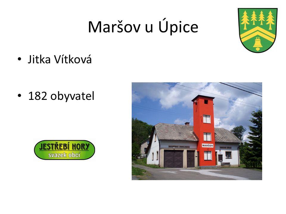 Maršov u Úpice Jitka Vítková 182 obyvatel