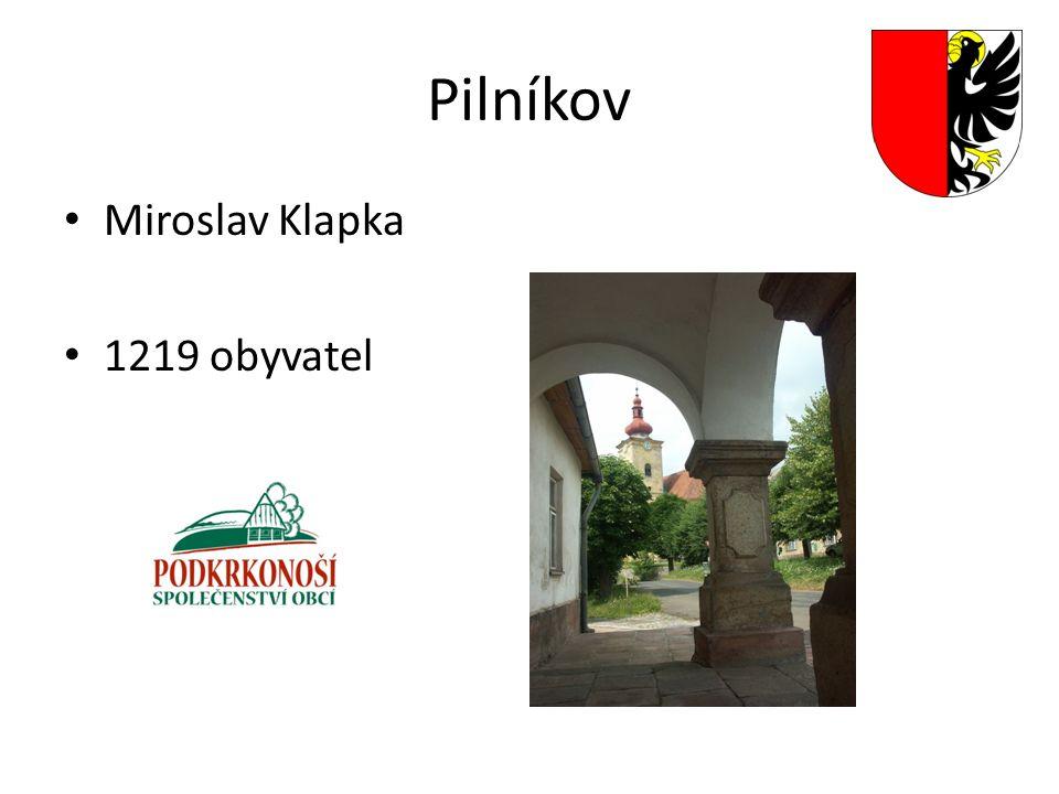 Pilníkov Miroslav Klapka 1219 obyvatel