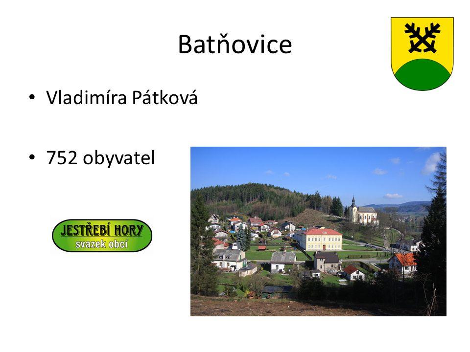 Batňovice Vladimíra Pátková 752 obyvatel