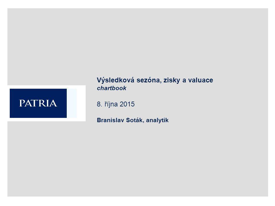 Výsledková sezóna, zisky a valuace chartbook 8. října 2015 Branislav Soták, analytik
