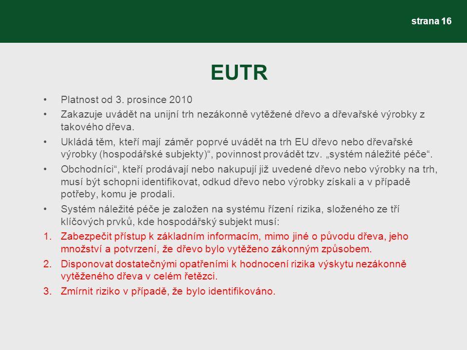 EUTR Platnost od 3.