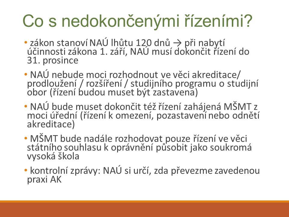 Příprava na nový systém akreditací 1.
