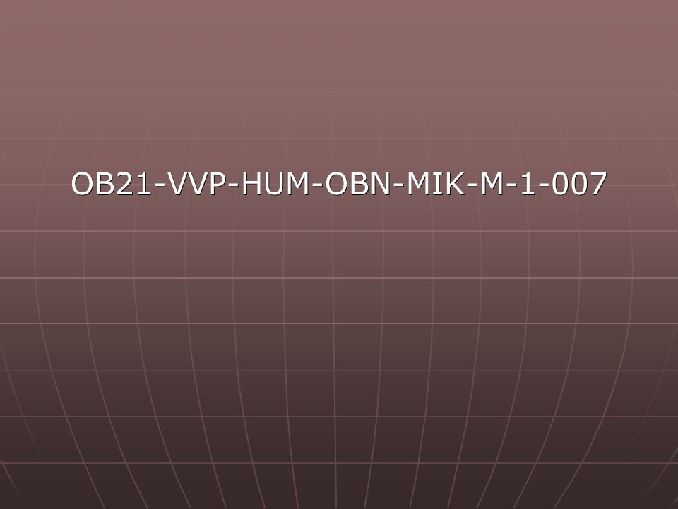 OB21-VVP-HUM-OBN-MIK-M-1-007