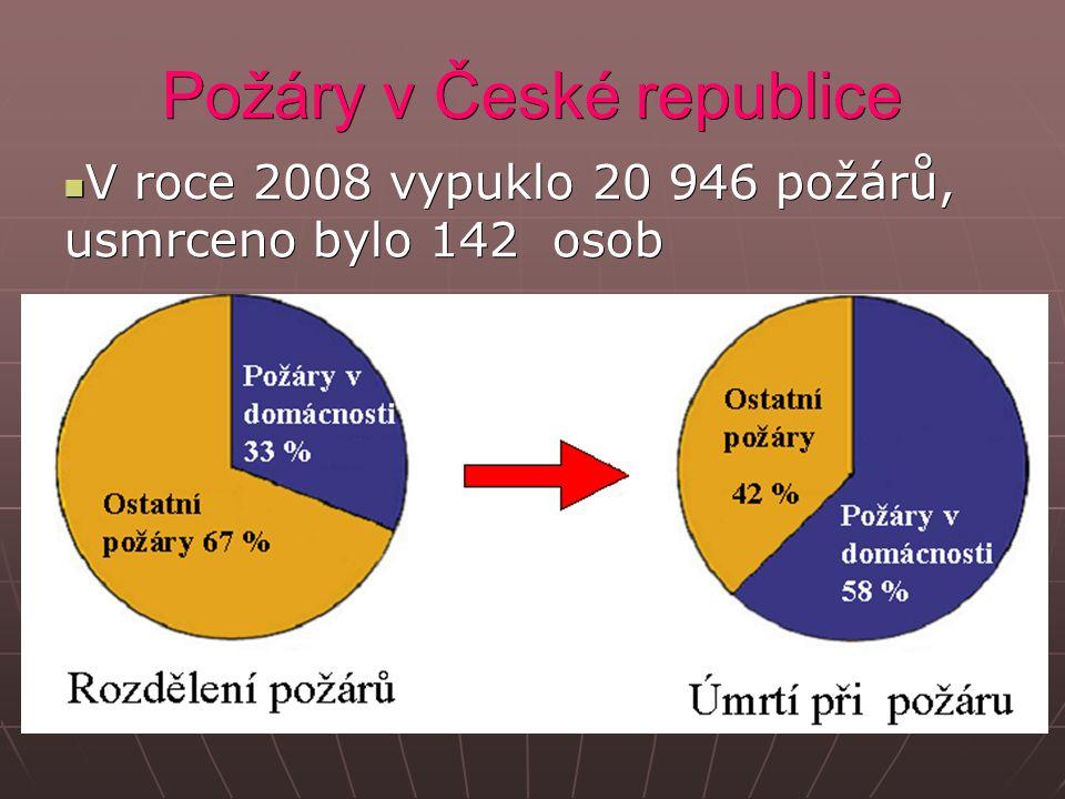 Požáry v České republice V roce 2008 vypuklo 20 946 požárů, usmrceno bylo 142 osob V roce 2008 vypuklo 20 946 požárů, usmrceno bylo 142 osob