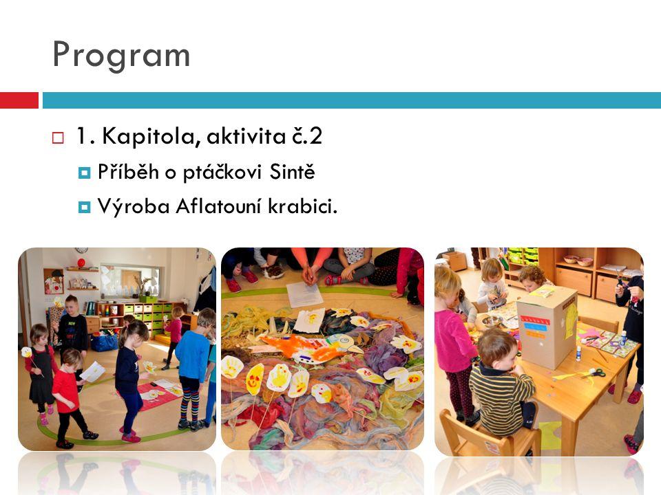 Program  1. Kapitola, aktivita č.2  Příběh o ptáčkovi Sintě  Výroba Aflatouní krabici.