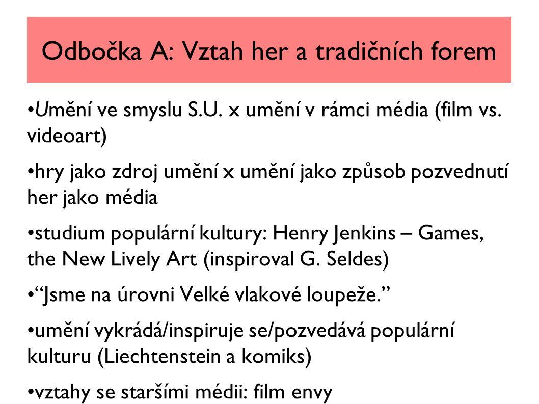 Odbočka A: Vztah her a tradičních forem Umění ve smyslu S.U.