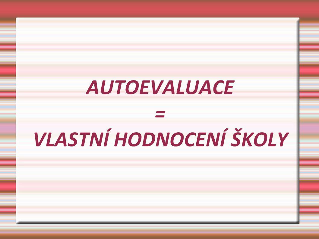 1.stanovit cíle autoevaluace 2. vytvořit harmonogram autoevaluačních činností 3.