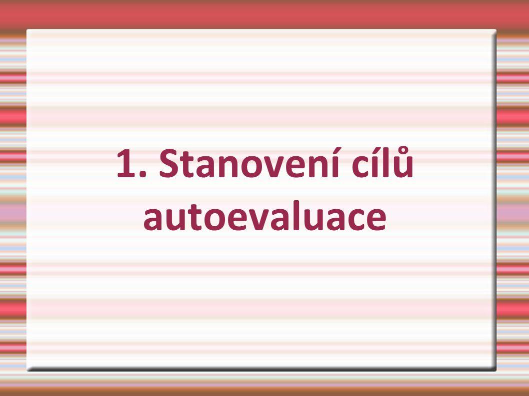 1. Stanovení cílů autoevaluace