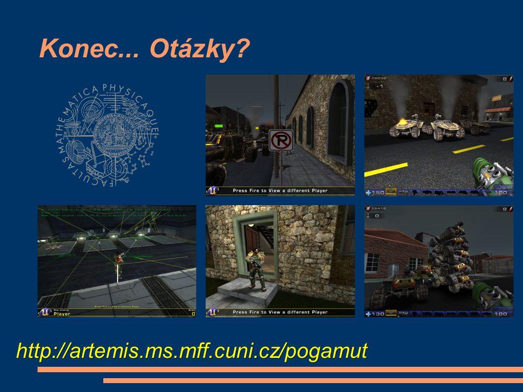 Konec... Otázky http://artemis.ms.mff.cuni.cz/pogamut