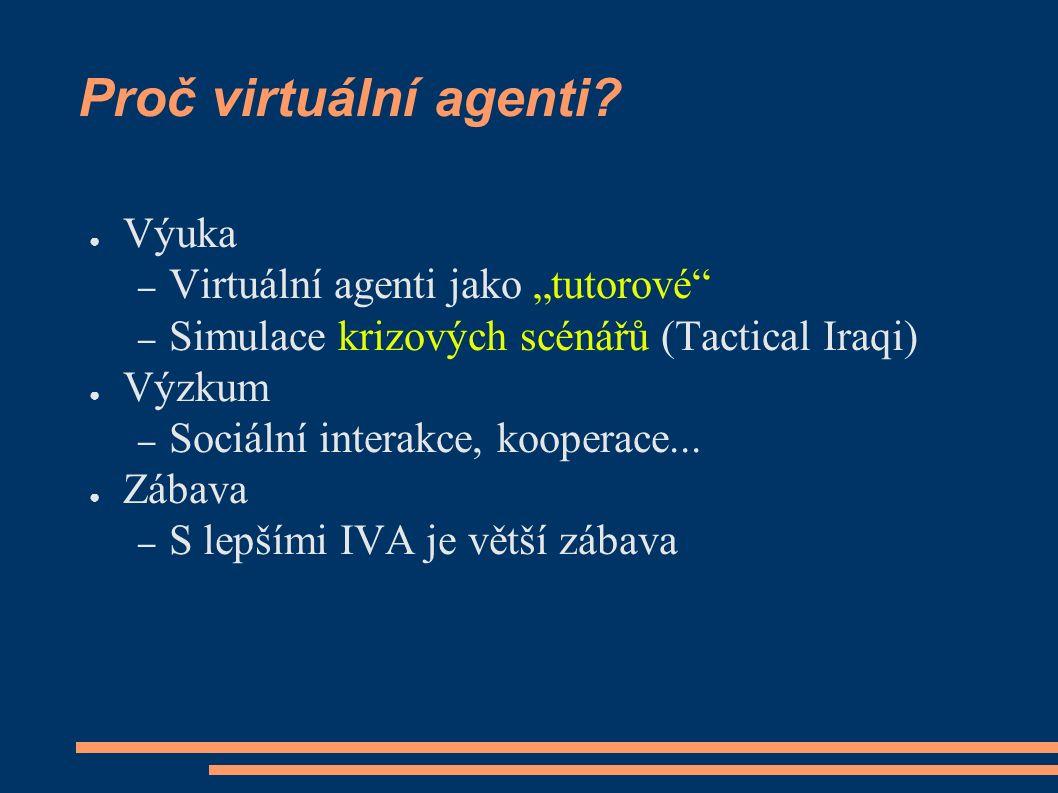 Proč virtuální agenti.