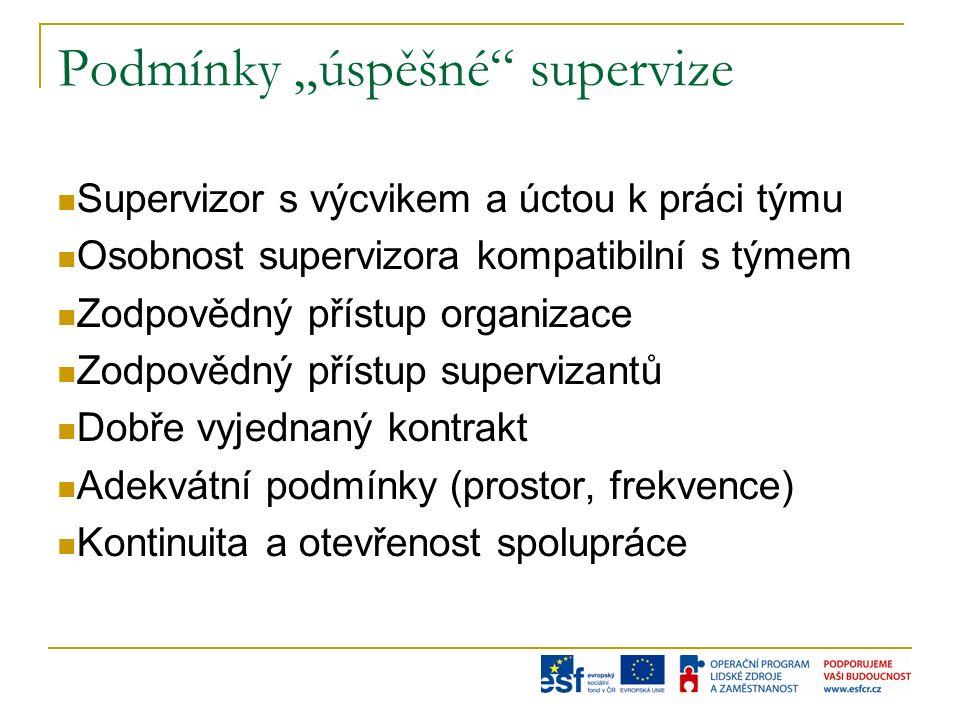 Standardní požadavky na supervizora v Evropě absolvent VŠ 6 let praxe v pomáhající profesi předchozí kursy a sebezkušenost dvouletý akreditovaný kurs supervize alespoň 38O hodin kursu supervize výuková supervize (cca 45 hodin) supervize supervize (cca 35 hodin)