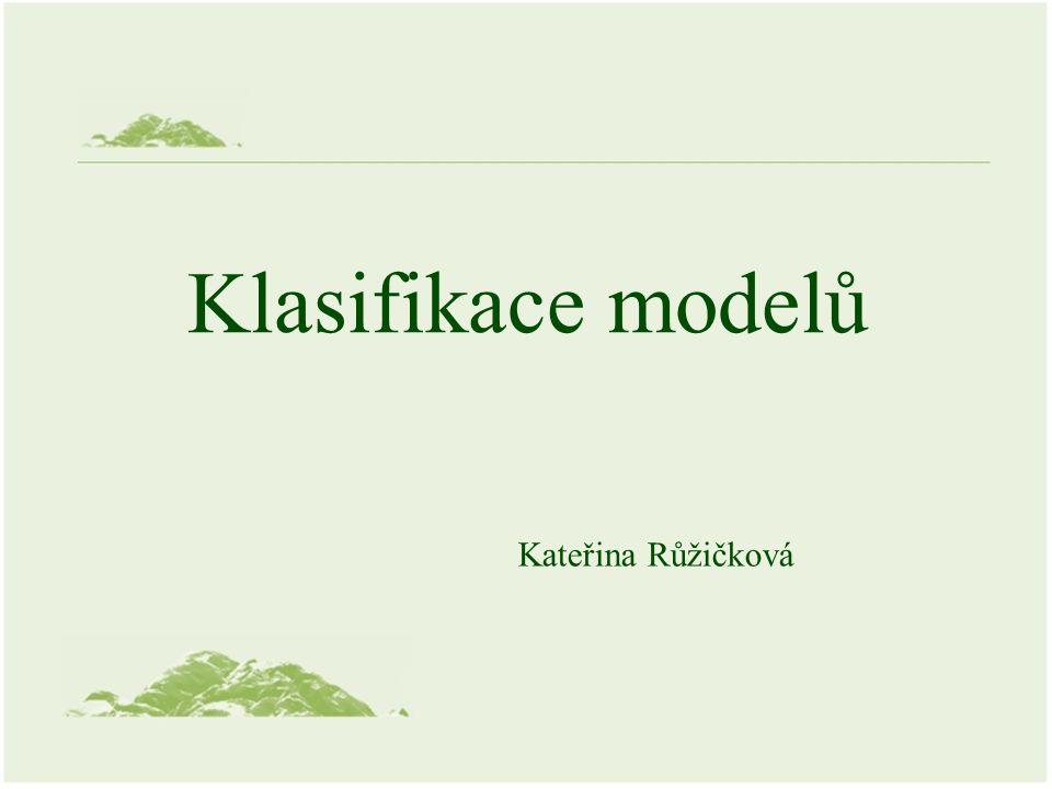 Klasifikace modelů Kateřina Růžičková