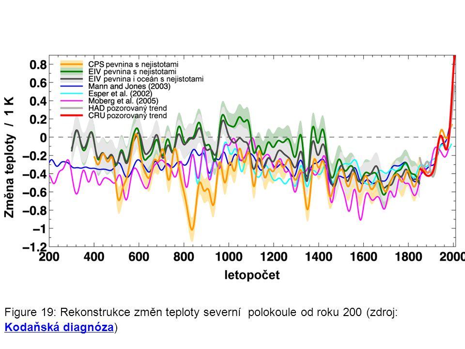 Figure 19: Rekonstrukce změn teploty severní polokoule od roku 200 (zdroj: Kodaňská diagnóza) Kodaňská diagnóza