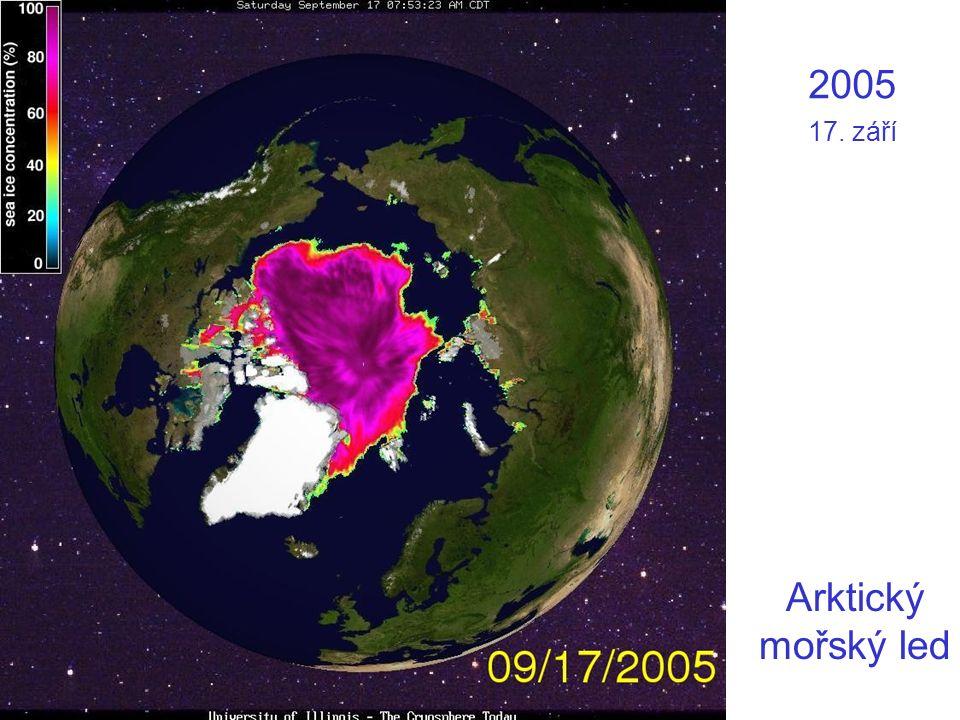 2005 17. září Arktický mořský led