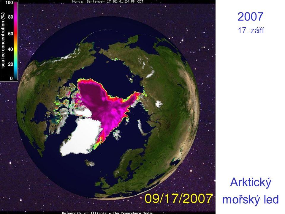 2007 17. září Arktický mořský led