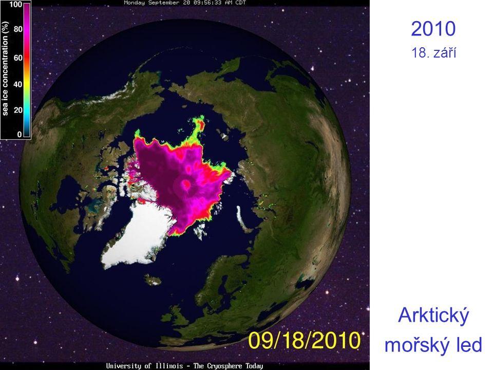 2010 18. září Arktický mořský led