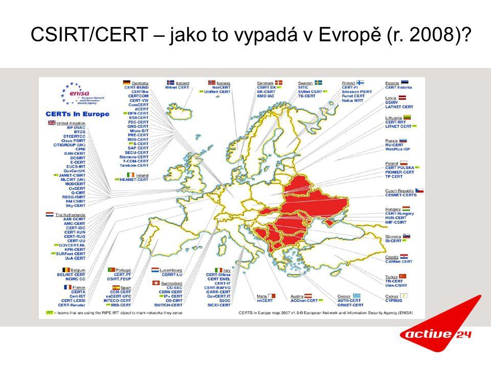 CSIRT/CERT – jako to vypadá v Evropě (r. 2008)