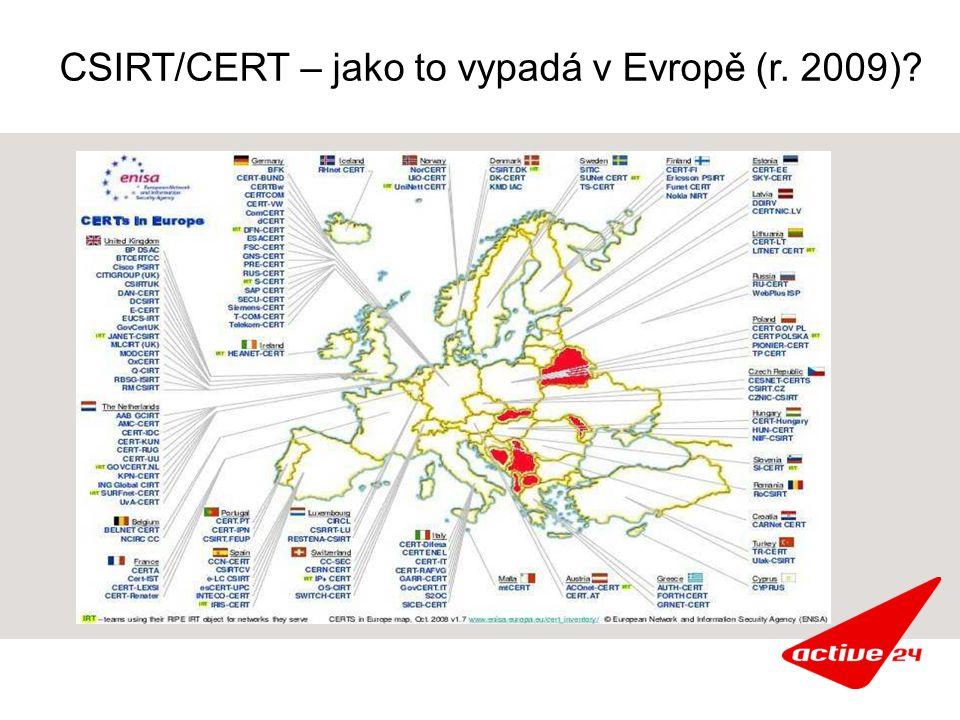 CSIRT/CERT – jako to vypadá v Evropě (r. 2009)
